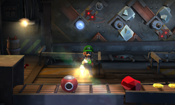 The Maintenance Room segment from Luigi's Mansion: Dark Moon.