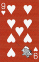 The Nine of Hearts card from the NAP-06 deck.