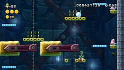Luigi sighting in Hammerswing Hangout from New Super Luigi U