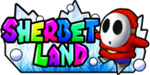 The logo for Sherbet Land, from Mario Kart Double Dash!!.