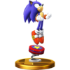 Sonic the Hedgehog's trophy render, from Super Smash Bros. for Wii U.
