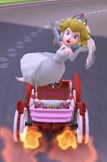 Peach (Wedding) performing a trick.