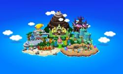 Map seen on the title screen of Mario & Luigi: Dream Team