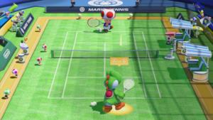 A Simple Shot in Mario Tennis: Ultra Smash.
