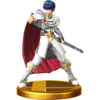 Marth trophy from Super Smash Bros. for Wii U