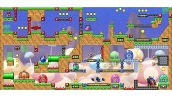 Miiverse screenshot of the 26th official level in the online community of Mario vs. Donkey Kong: Tipping Stars