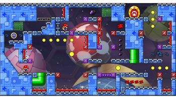 Miiverse screenshot of the 94th official level in the online community of Mario vs. Donkey Kong: Tipping Stars