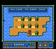 The Warp Zone as it appears in Super Mario Bros. 3 (SNES version)Super Mario All-Stars (SMB3)