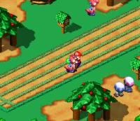 Mario stuck in a Yoshi