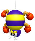 In-game artwork of a Scuttlebug from Super Mario Run