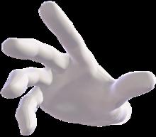 Master Hand's Spirit sprite from Super Smash Bros. Ultimate
