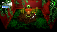 The treasure room in the Wooded Kingdom in Super Mario Odyssey