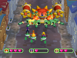 An assault in Verbal Assault from Mario Party 6.