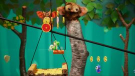 Weighing Acorns, the first level of Acorn Forest in Yoshi's Crafted World.