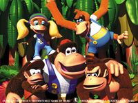 Wallpaper of the Kong Family from Donkey Kong 64.