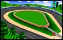 The icon for Luigi Raceway, from Mario Kart 64.