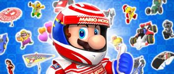 The Mario Pipe 1 from the Mario Tour in Mario Kart Tour