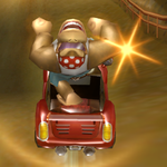 Funky Kong performing a Trick
