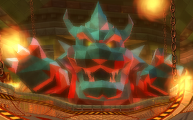 A Mecha Bowser from Mario Kart Wii