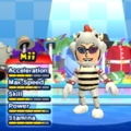 Dry Bowser Mii Costume in the game Mario & Sonic at the London 2012 Olympic Games for the Wii.