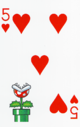 The Five of Hearts card from the NAP-02 deck.