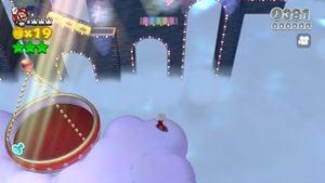 Luigi sighting found in Tricky Trapeze Theater in Super Mario 3D World.