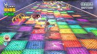 Plessie swimming in Rainbow Run of Super Mario 3D World.