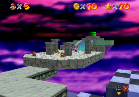 Mario at the end of the Bowser in the Sky, before the fight with Bowser.