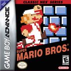 The front cover of the Classic NES Series port of Super Mario Bros.