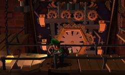 The Clock Tower Gate segment from Luigi's Mansion: Dark Moon.