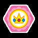 Princess Peach's emblem from baseball from Mario Sports Superstars