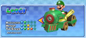 Luigi in a kart from Mario Kart Arcade GP 2