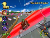 Luigi Circuit in the game Mario Kart: Double Dash!!.