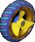 The Screw_DarkBlue tires from Mario Kart Tour