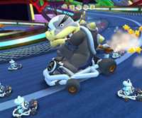 The icon of the Morton Cup challenge from the Vancouver Tour and the Rosalina Cup challenge from the Wedding Tour of Mario Kart Tour