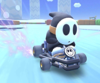 The icon of the Shy Guy Cup challenge from the Exploration Tour in Mario Kart Tour.