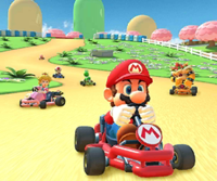 The icon of the Bowser Jr. Cup challenge from the Tokyo Tour in Mario Kart Tour.
