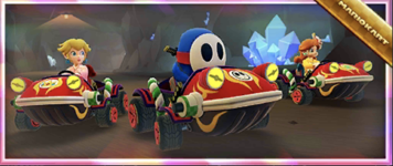 The Crimson Hop Rod Pack from the Ninja Tour in Mario Kart Tour