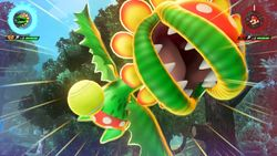 Petey Piranha performing his Special Shot, the Vicious Twister