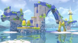 Pounce Bounce Isle in Super Mario 3D World + Bowser's Fury