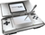 The original Nintendo DS, in a silver color