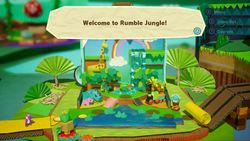Rumble Jungle, a jungle-themed world in Yoshi's Crafted World.