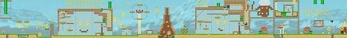 Layout of Shaun's Mossy Mole Mischief in Super Mario Maker.