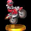 Excitebike Racer Trophy from Super Smash Bros. 3DS