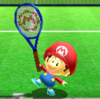 Baby Mario's taunt from Mario Sports Superstars