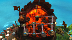 Map of Volcano in Donkey Kong Country Returns