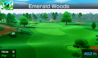 Hole 9 of Emerald Woods from Mario Sports Superstars