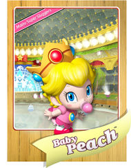 Level 1 Baby Peach card from the Mario Super Sluggers card game