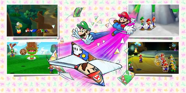 Banner for a Play Nintendo opinion poll on which special ability one would use to help Mario and Luigi in Mario & Luigi: Paper Jam. Original filename: <tt>2x1-MLPJ_being_paper-2.0290fa9874e6c2e6db1c3f61b1e85eb024429302.jpg</tt>
