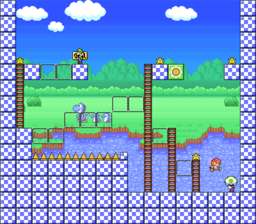 Level 2-2 map in the game Mario & Wario.